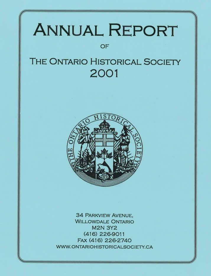 2001 OHS Annual Report Cover