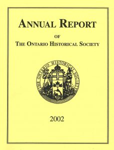 2002 OHS Annual Report Cover