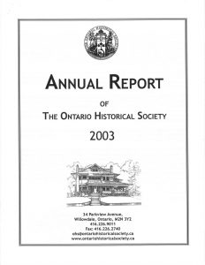 2003 OHS Annual Report Cover