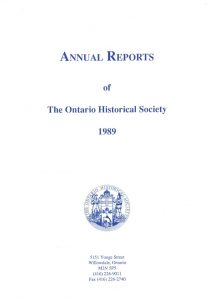 1989 OHS Annual Report Cover