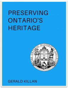 Preserving Ontario's Heritage (Cover)