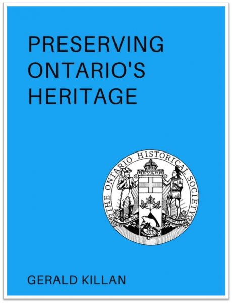 Preserving Ontario's Heritage Cover