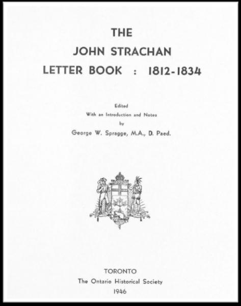 The John Strachan Letter Book (Cover)