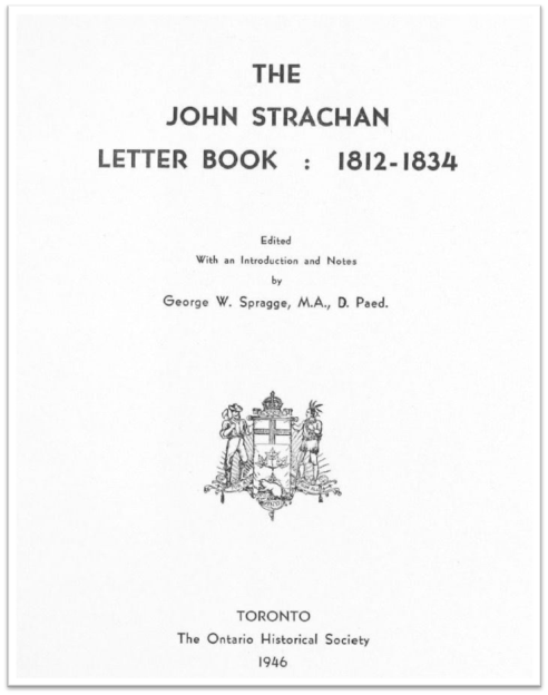 The John Strachan Letter Book Cover