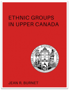 Ethnic Groups in Upper Canada (Cover)