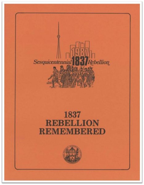 1837 Rebellion Remembered (Cover)
