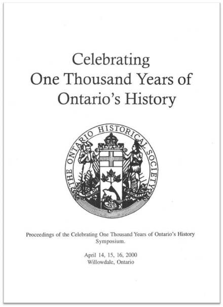 Celebrating One Thousand Years of Ontario's History Cover